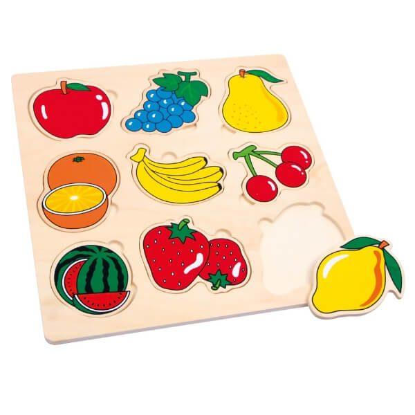 Puzzles para niños de madera Frutas